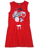 Tuc Tuc Girl's Jersey Dress with Strawberries Print