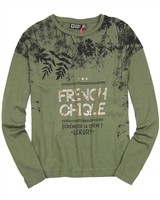 Tumble n Dry Junior Girls' Top Feve Olive