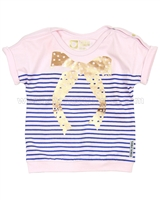 Tumble n Dry Baby Girls' Striped T-shirt Otho