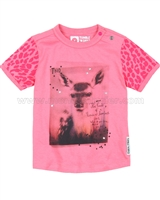 Tumble n Dry Baby Girls' Printed Top Okay