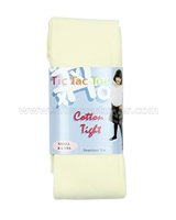 Tic Tac Toe Cotton Tights - Ivory