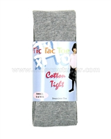 Tic Tac Toe Cotton Tights - Heather Gray