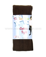 Tic Tac Toe Cotton Tights - Espresso