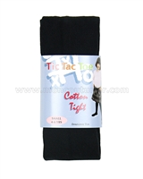 Tic Tac Toe Cotton Tights - Black